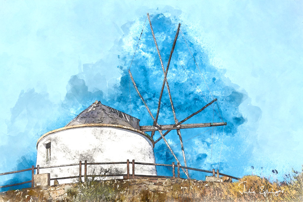 Spanish Windmill by Julia Springer