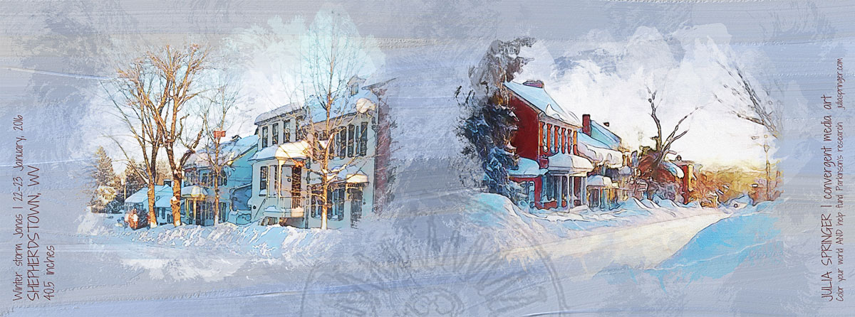 Snowy Shepherdstown scenes after winter storm Jonas from Julia Springer | convergent media art